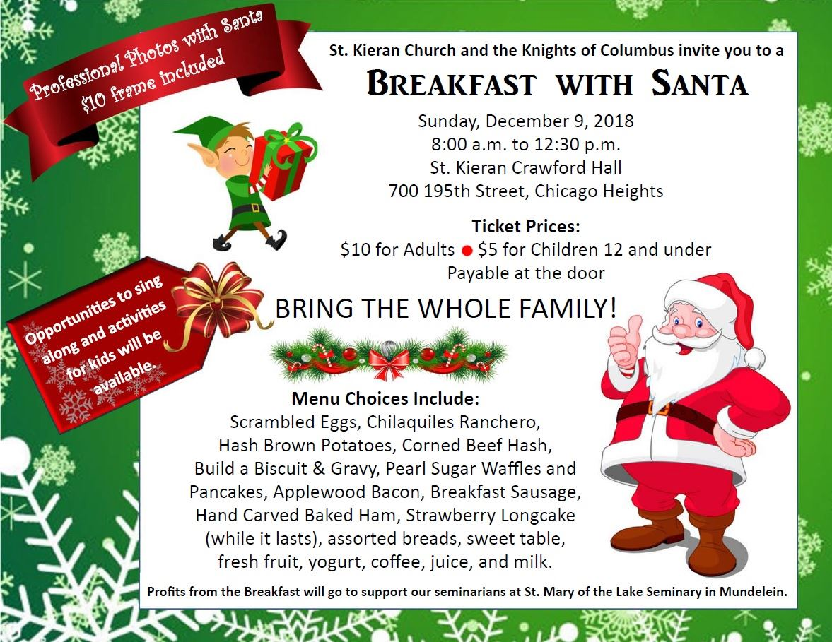 Breakfast with Santa Knights of Columbus 2018