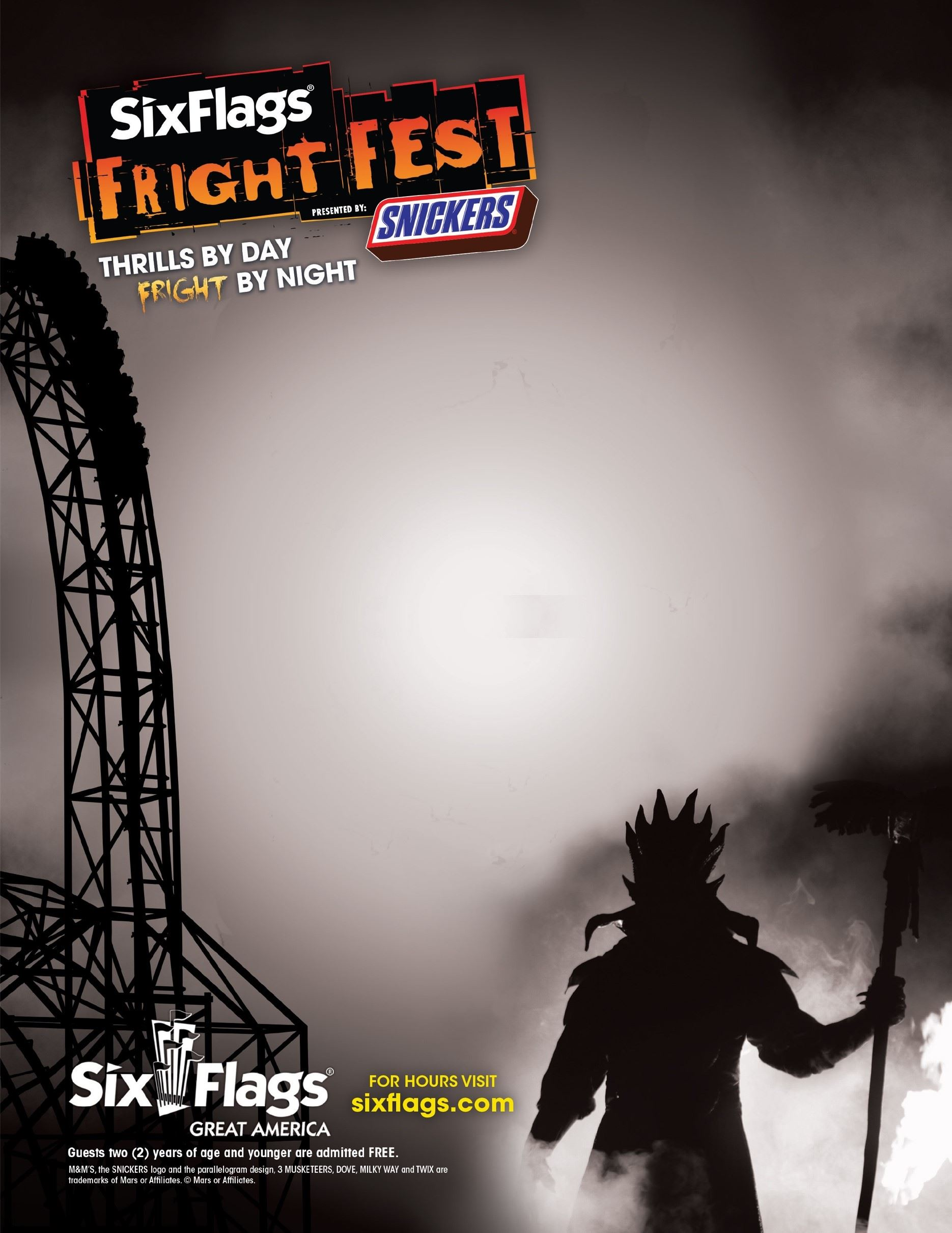 Flyer - Six Flags Amusement Park Fright Fest
