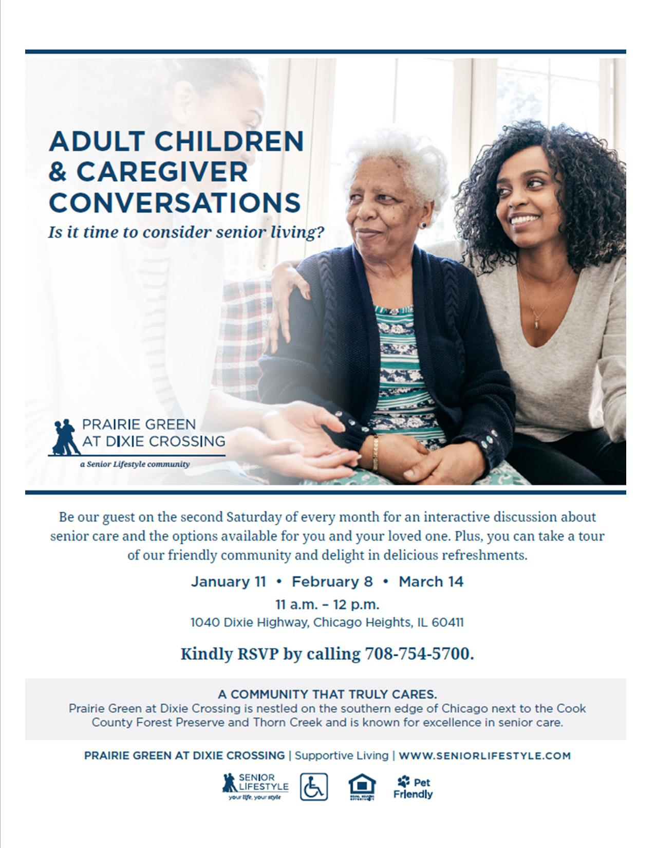 Prairie Green at Dixie Crossing - Adult Children and Caregiver Conversations 2020