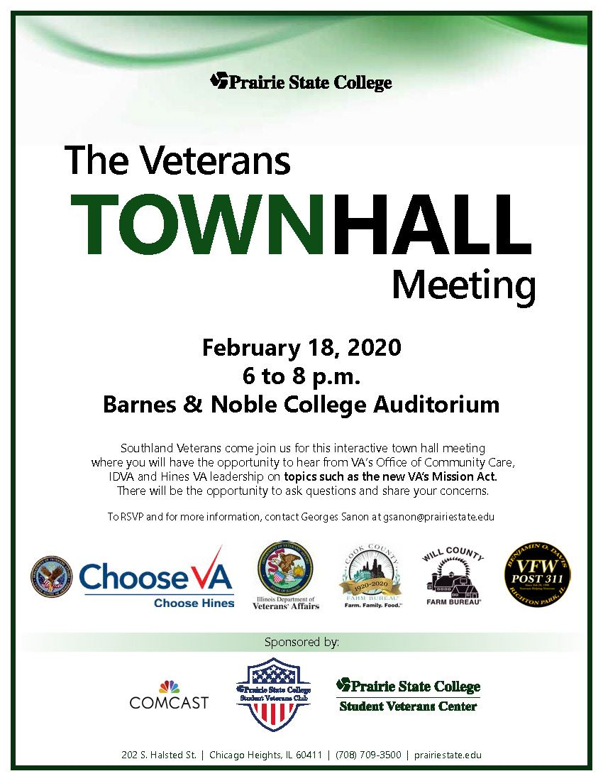 Veterans Town Hall Meeting at Prairie State College