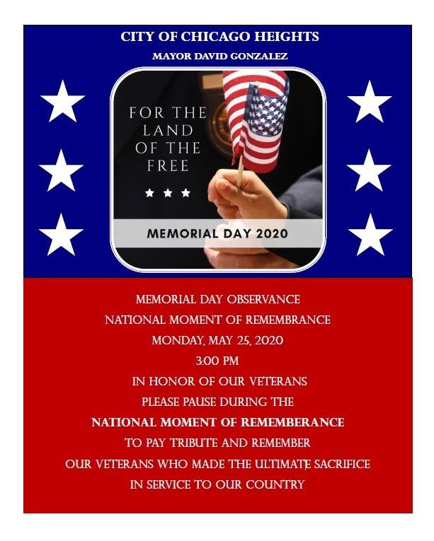 Moment of Remembrance - Memorial Day 2020