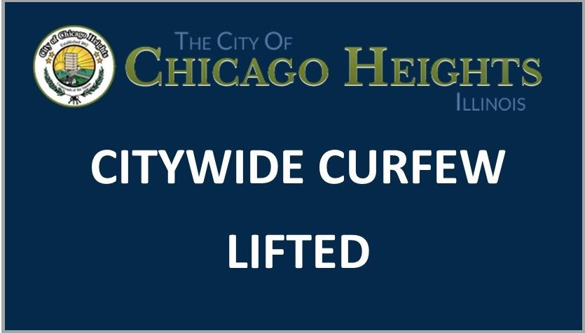 CITYWIDE CURFEW LIFTED