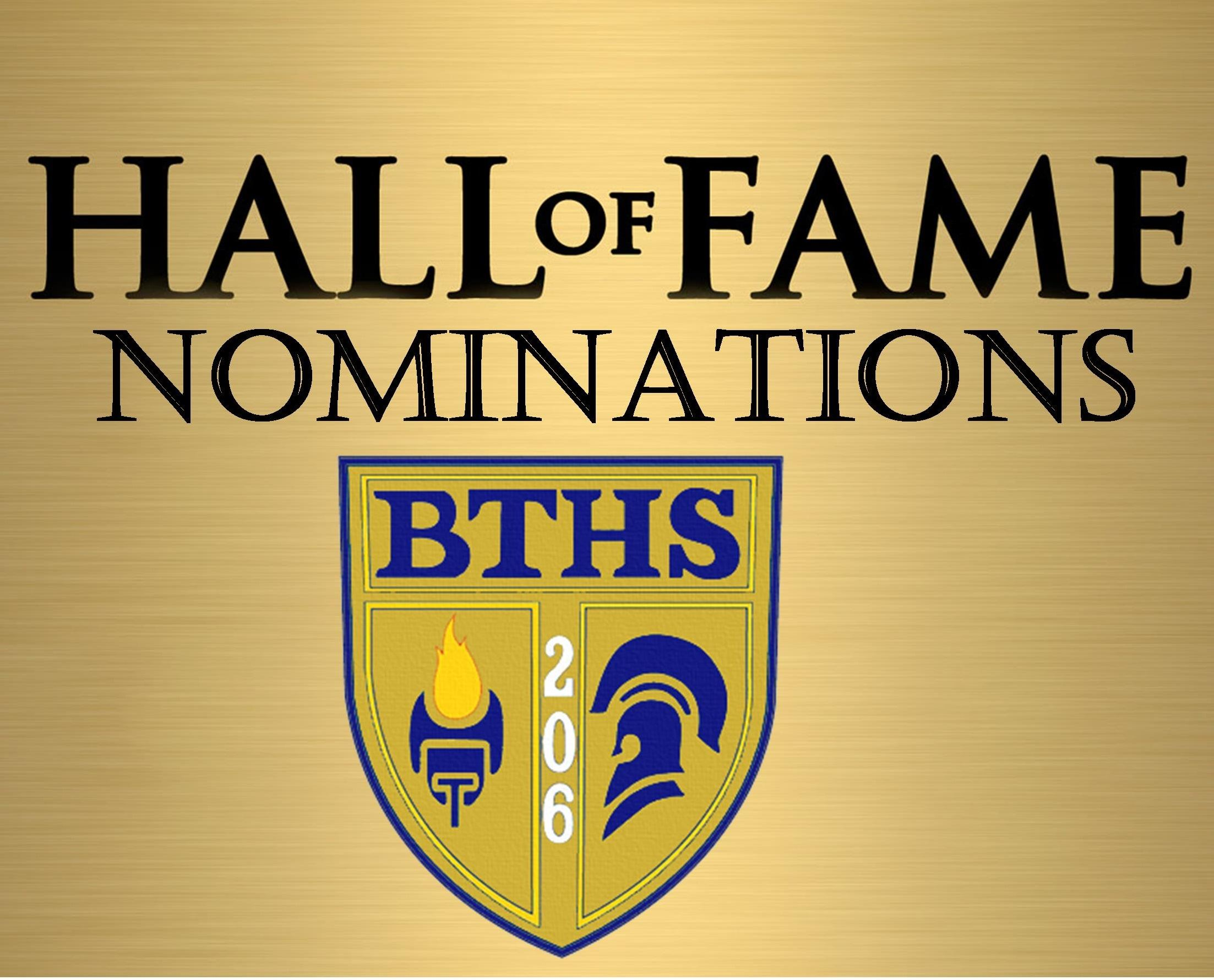 BTHS Hall of Fame Nominations