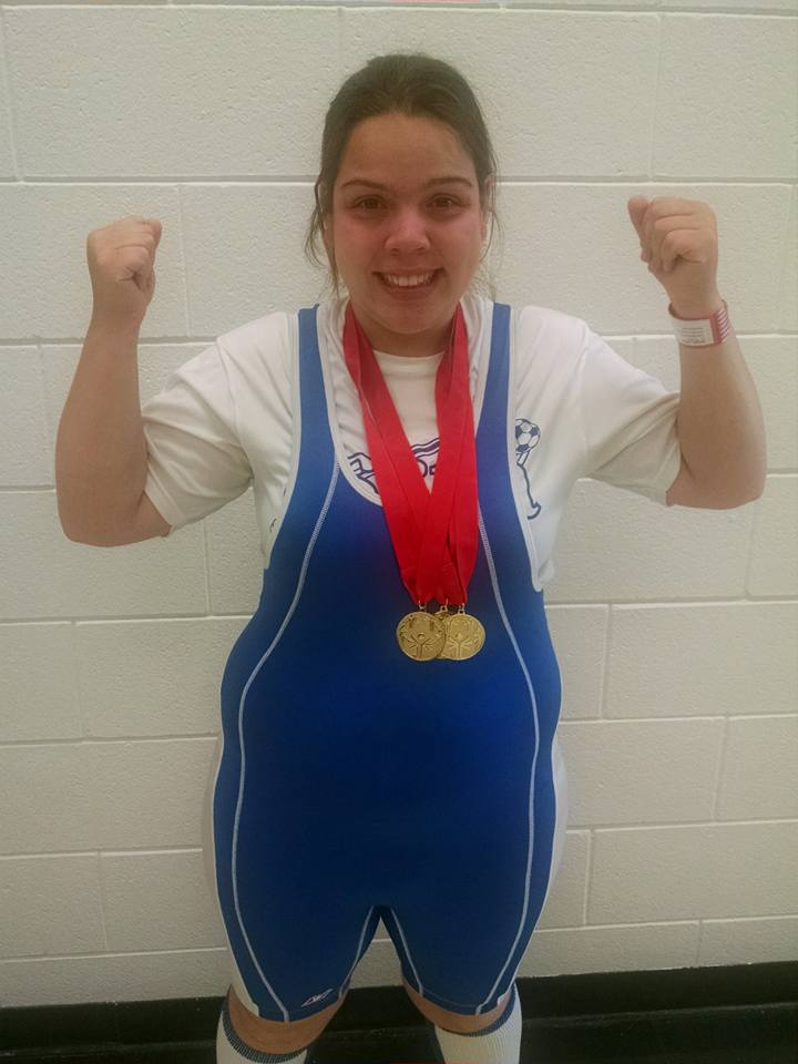 Congratulations, Jillian Angell! Three more Special Olympic Golds to add to the collection!