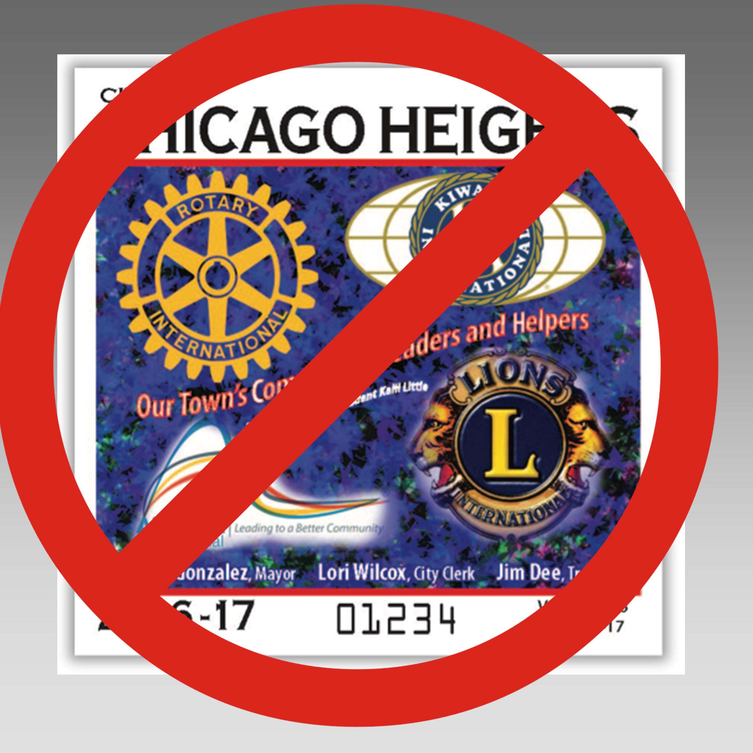 The City of Chicago Heights will no longer require residents to purchase city  vehicle stickers.