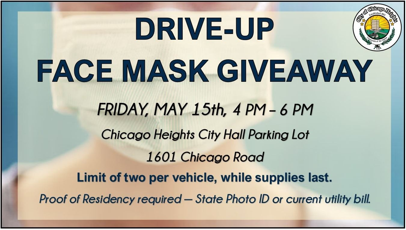 Free Face Mask Giveaway on 5/15/20