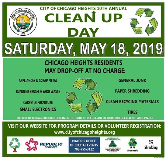 Clean Up Day Saturday May 18 2019