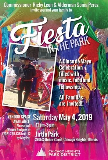Fiesta in the Park Saturday May 4, 2019 11 am to 3 pm Jirtle Park