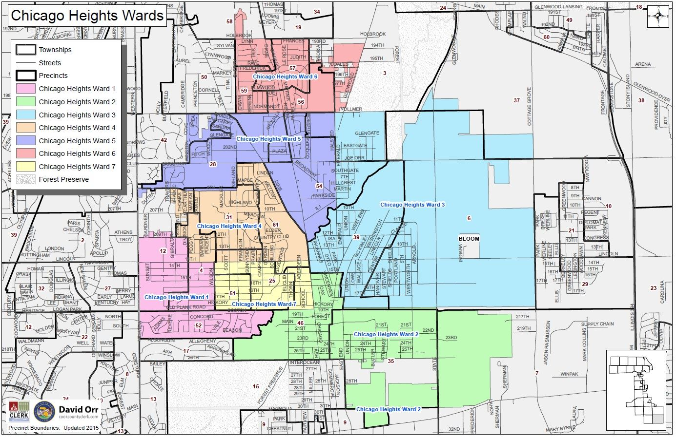 Chicago Ward Maps City Ward Map | Chicago Heights, IL