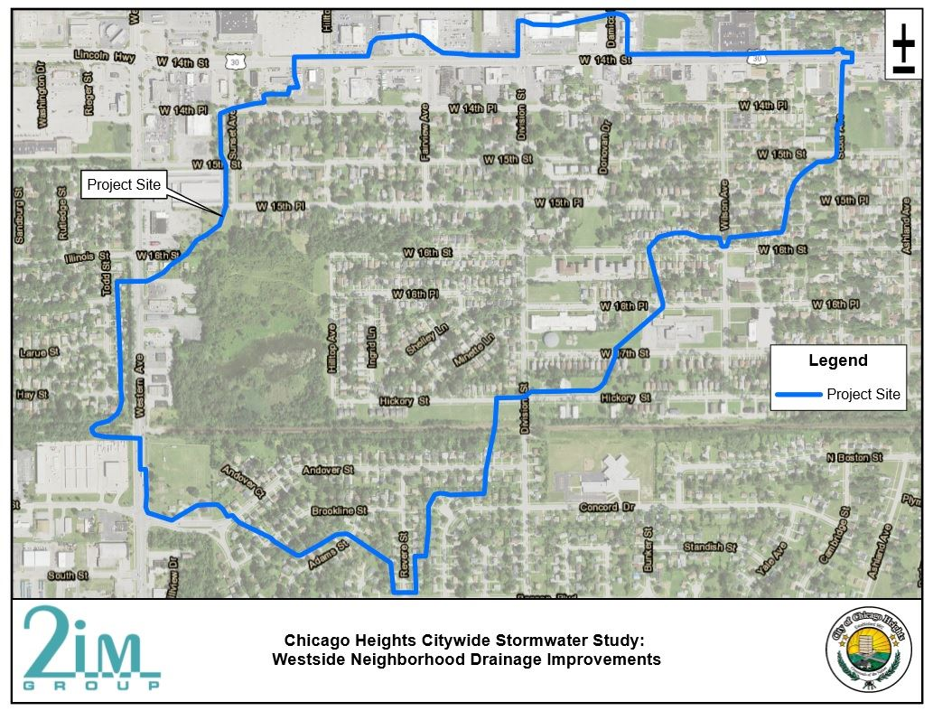 Chicago Heights Citywide Stormwater Study Westside Neighborhood Drainabe improvements