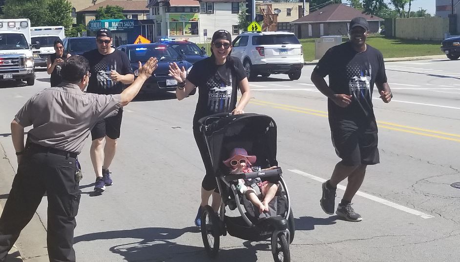 CoCH Torch Run Participants Running with Stroller 2019