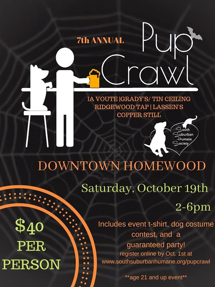 2019 - South Suburban Humane Society Fundraiser - 7th Annual PUP Crawl