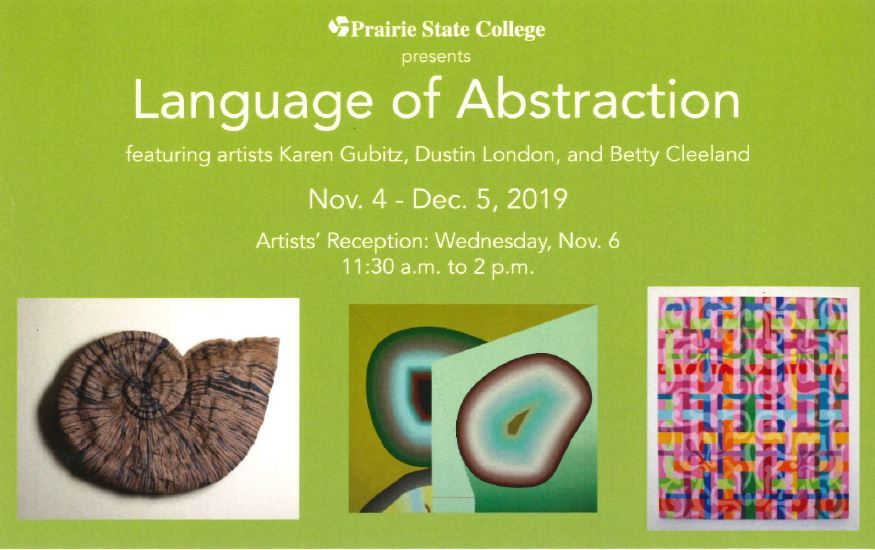 2019 - PSC Art Gallery - New Exhibit - Language of Abstraction - Nov. 4-Dec. 5, 2019