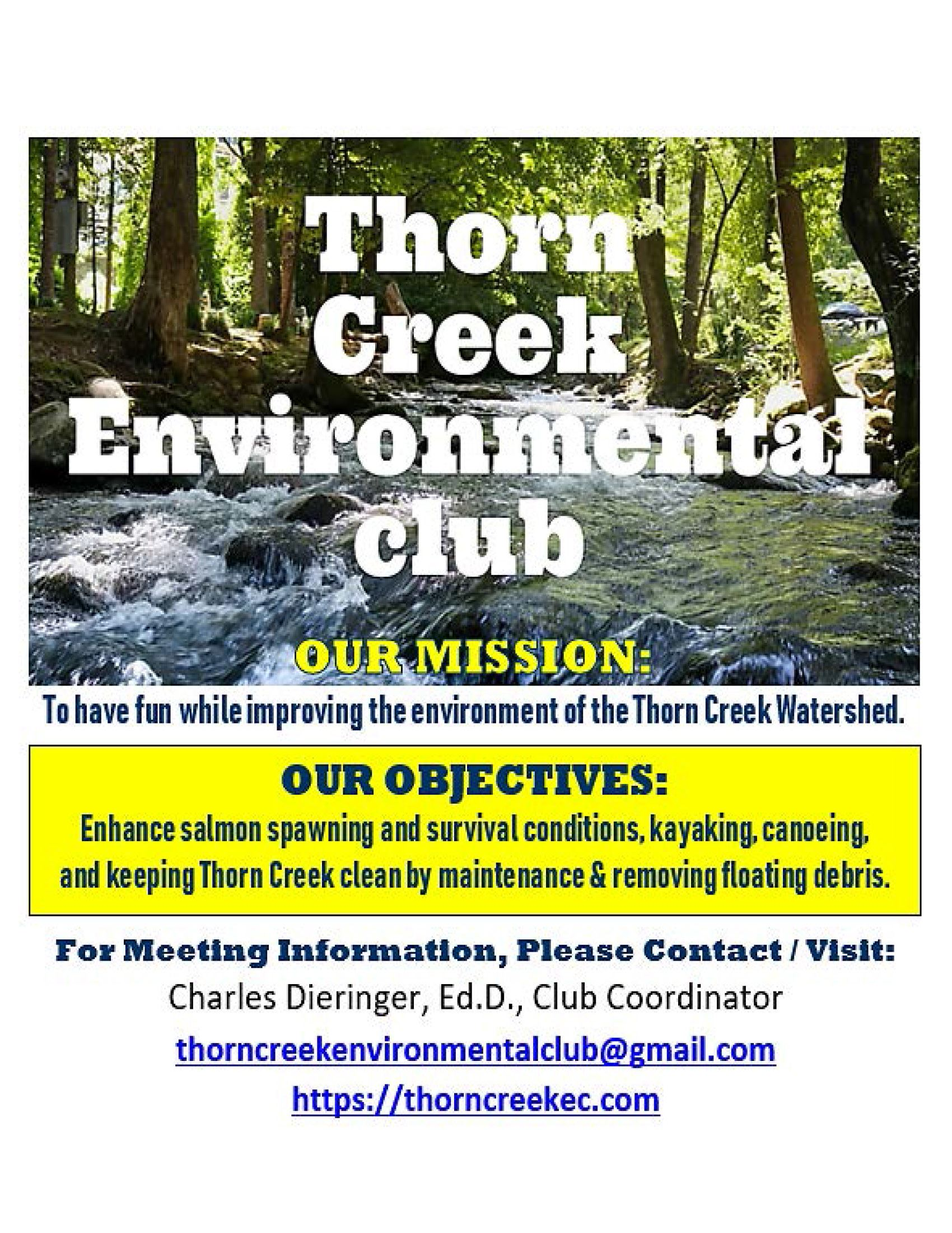 2019 - Flyer - Thorn Creek Environmental Club