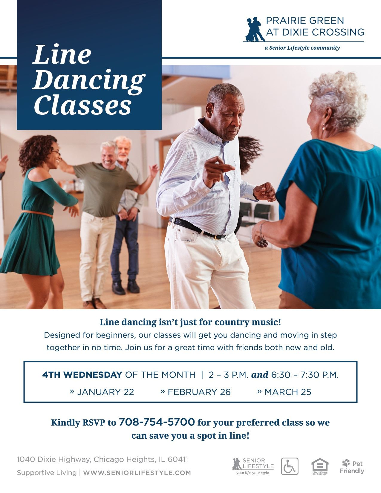 Prairie Green at Dixie Crossing - Line Dancing Classes 2020
