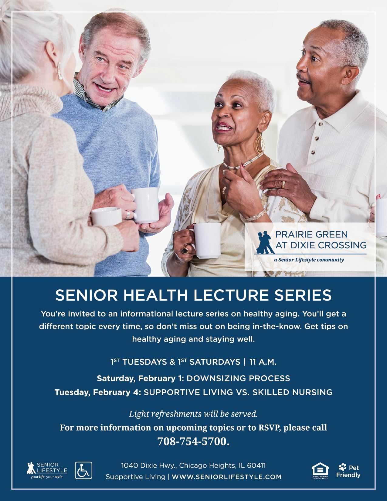 Prairie Green at Dixie Crossing - Senior Health Lecture Series 2020