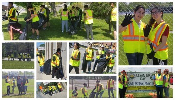 2019 Citywide Clean-Up collage 2