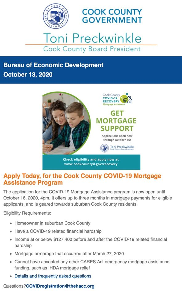 Flyer - Cook County Mortgage Assistance